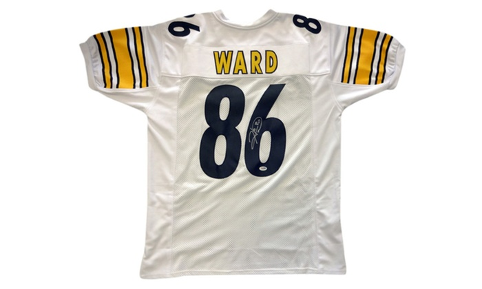 9118db2be13 Autographed Hines Ward Pittsburgh Steelers White Custom Jersey | Groupon
