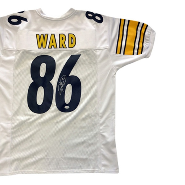 new products bcf46 0c16e Autographed Hines Ward Pittsburgh Steelers White Custom Jersey