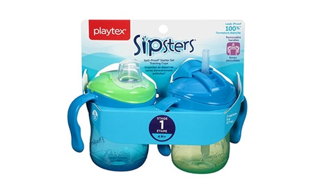 Playtex Sipsters Stage 1 Spill-Proof, Leak-Proof, Break-Proof Sippy Cups ba154204-30a2-4ac4-a812-98c90d94a39d