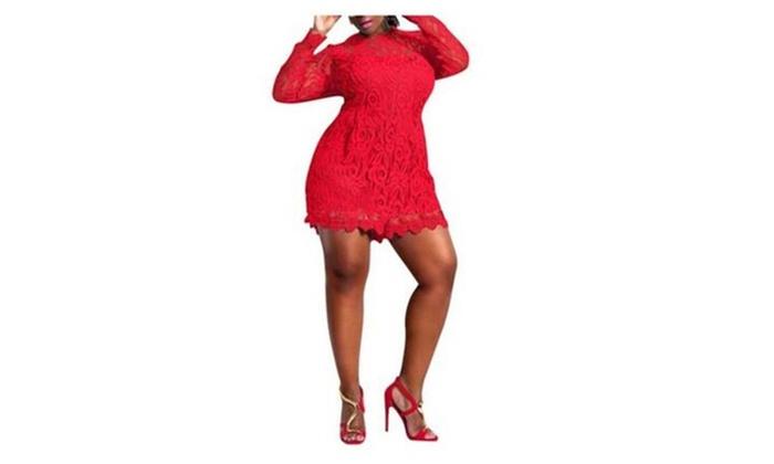 61d6a5dd5937 Women s Plus Size Lace Overlay Short Jumpsuit Rompers