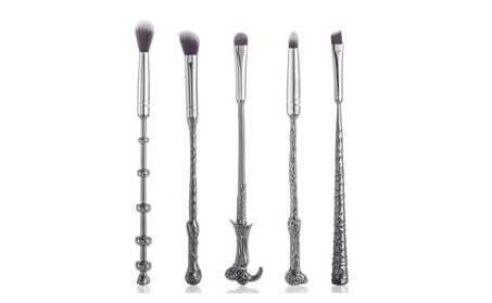 5Pcs Harry Potter Magic Wand Handle Makeup Brush Cosmetic Beauty Tool 3cc37662-628d-4e3a-be44-745c4eb072fb
