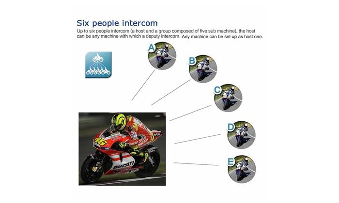 Motorcycle Bluetooth Communicator Wireless Headphone Helmet