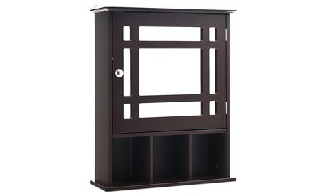 Costway Mirrored Medicine Cabinet Bathroom Wall Mounted Storage W/Adjustable