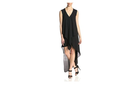 Women's Irregular Chiffon Sleeveless V Neck Summer Maxi Beach Dress cbe60956-d795-4e81-bce1-c2bf3d8c1dc1