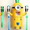 Minion-Themed Wall Mounted Toothpaste Dispenser & Toothbrush Holder