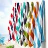 100% Cotton Cabana Stripe Velour Beach Towel (2- or 4-Pack)