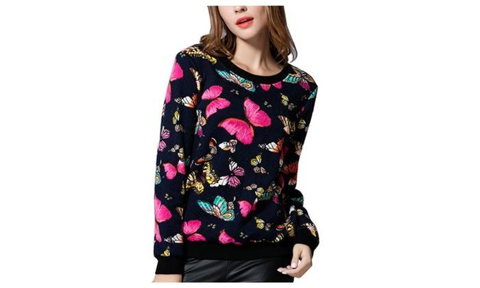 Women's Printed Fashion Pullover Casual Sweatshirt