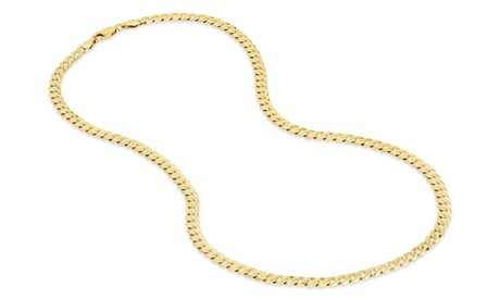 Gold Plated Sterling Silver Curb 100 Gauge Chain 6098ac60-3e00-43fe-99f6-b1ba38104c23