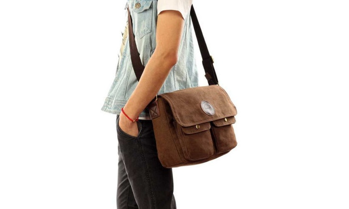 29ff118da45 ... Vintage Men s Canvas Shoulder Bag Cross Body School Book Bags Satchel