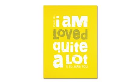 Megan Romo 'Loved a Lot I' Canvas Art 40217ff3-4526-4070-a6c7-57de338d33cd