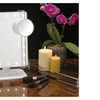 Rectangular LED Lighted Vanity Mirror with 10x Magnification Spot
