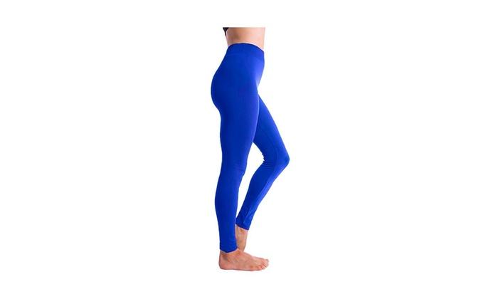 77f61fe40cf85e Altatac Seamless Full Length High Waist Fleece Lined Leggings for Women