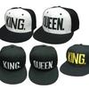 King Queen Lovers Cap Embroidery Cotton Couple Hats Men Women Hip-Pop