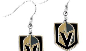 Sports Team Logo NHL Vegas Golden Knights Dangle Earring Charm