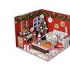 Wooden Miniature Dollhouse LED Light Christmas Room Furniture Kits