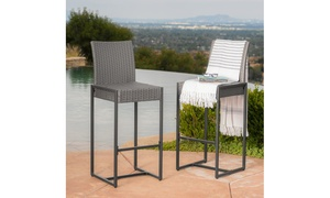 Conrad Outdoor Wicker Bar Stools (2- or 4-Piece)