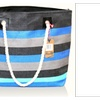 Straw Beach bag by Pier 17 with zipper closure