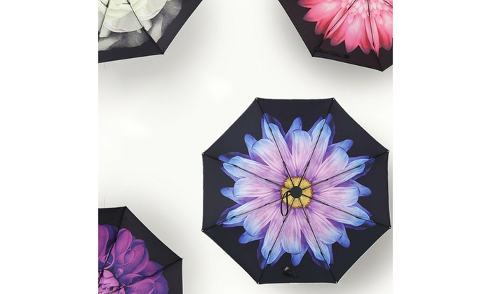 52cc2523d40a 50 Anti-UV Sun Rain Protection Windproof Flower Parasols 3 Folding ...