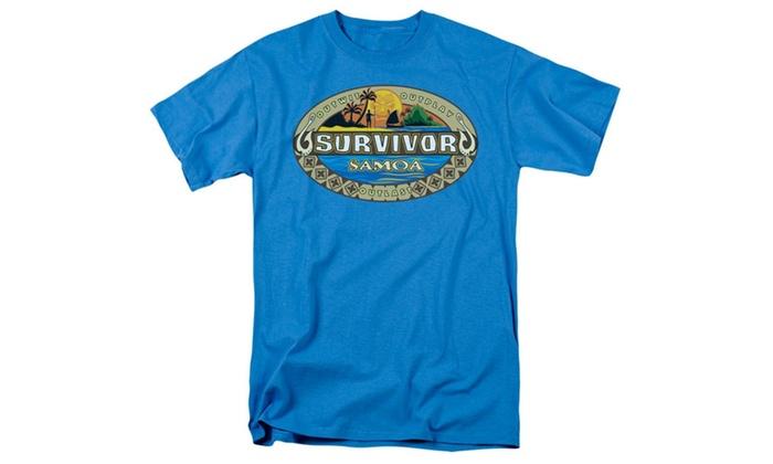SILFA Outlet: Survivor - Mens Samoa Logo T-Shirt In Turquoise