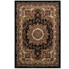 Grace Blue Cream Border Rectangle Indoor Area Rug