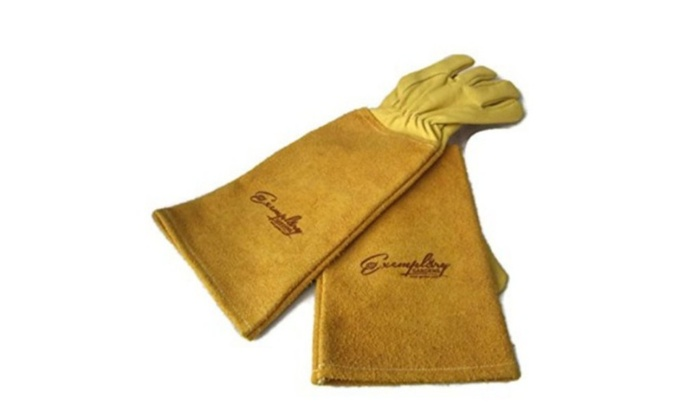 Thorn Proof Goatskin Leather Gardening Gloves ...