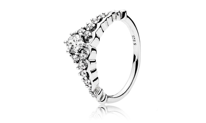 f8e15a044 Pandora Inspired Fairytale Tiara Ring In 925 Sterling Silver | Groupon