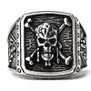 3D Pirates of the Caribbean Retro Skull Men's Ring
