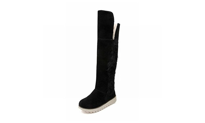 Women's Fashion Warm Faux Fur Cute Comfort Elegance Tall Snow Boots