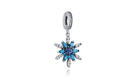 Bling Jewelry 925 Sterling Silver Crystal Snowflake Dangle Bead 32ce4940-ee4a-4ec2-b2f8-6f38ebdbe6b2
