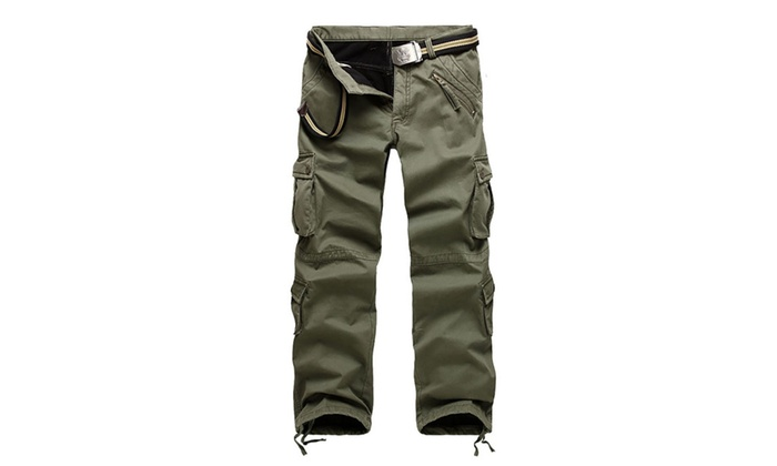 Men's Cotton Casual Military Multi Pockets Combat Work Pants