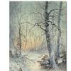 Joseph Farquharson 'Winter Breakfast' Canvas Art