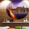 San Francisco skyline and Bay Bridge' Ultra Glossy Sea Bridge Metal Circle