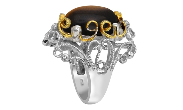 11141037a332a Up To 45% Off on 11.2 Ct Tiger Eye Cubic Zirco... | Groupon Goods