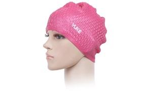 Flexible Adult Swimming Cap Waterproof Silicon Waterdrop Caps Hats