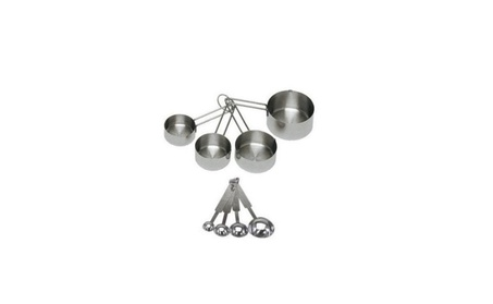ChefLand 8-Piece Stainless Steel Measuring Cups and Measuring Spoon e0b533dc-d805-4e23-9fa1-a9b516fd9d2f