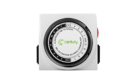 Century Heavy Duty Mechanical Timer Dual Outlet - 24 Hours photo