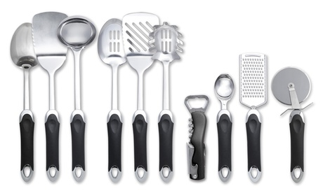 Kitchen Stainless Steel Utensils Set (1, 3, or 10-Piece) f24c745e-2dc6-44b6-a36a-8a0f66137f24