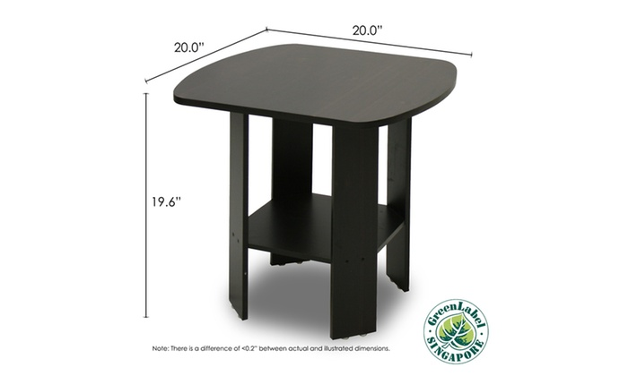 ... Furinno 2 11180EX Espresso End Table Set (2 Piece) ...