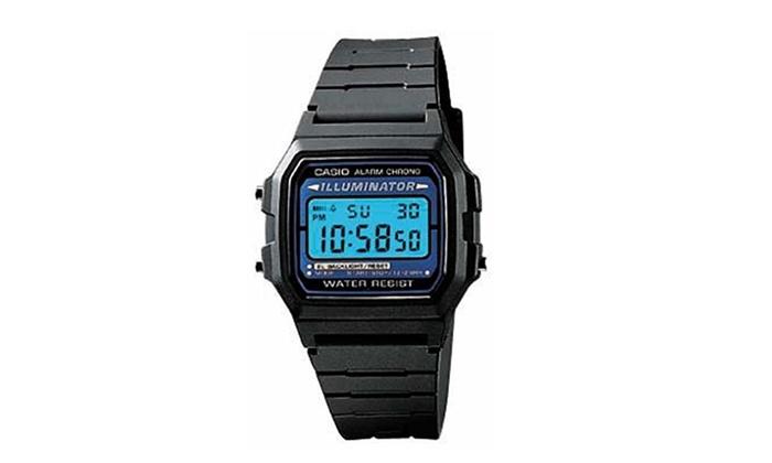 quality design 3883d 84b66 Casio F105W-1A Casio Illuminator Watch