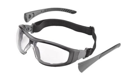 Goggles Black Silver Clear Anti Fog Safety Glasses Hybrid f015f129-d5cc-46e3-ab95-cce5c869333e