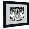 Miguel Paredes 'Heart I' Matted Black Framed Art
