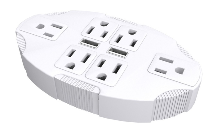 Six Plug USB Adapter Stanley Electrical Wall Tap