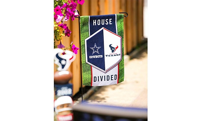 Team Sports America NFL House Divided Suede Garden Flags