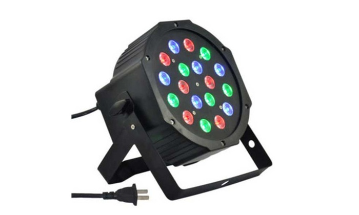 18-LED Voice Control Projector Lamp with Remote Controller Black