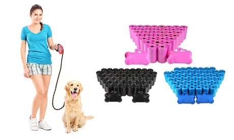 1,000 Waste Bags and Dispensers For Pets