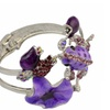 Fashion Silver Plated Flower Enamel Cuff Bracelet for Women