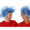 Funky Spiky Blue Wig Costume Wig
