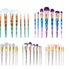7Pcs Makeup Brushes Set Colorful Diamond Shaped Cosmetics Brushes Kit