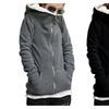 Women's Warm Long Sleeve Zipper Outerwear Sweatshirt Coat Jacket