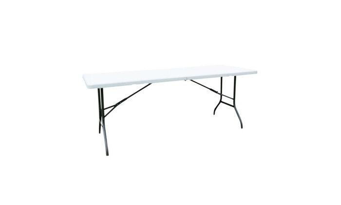 Up To Off On Folding Table Portable Plasti Groupon Goods - Sarin table